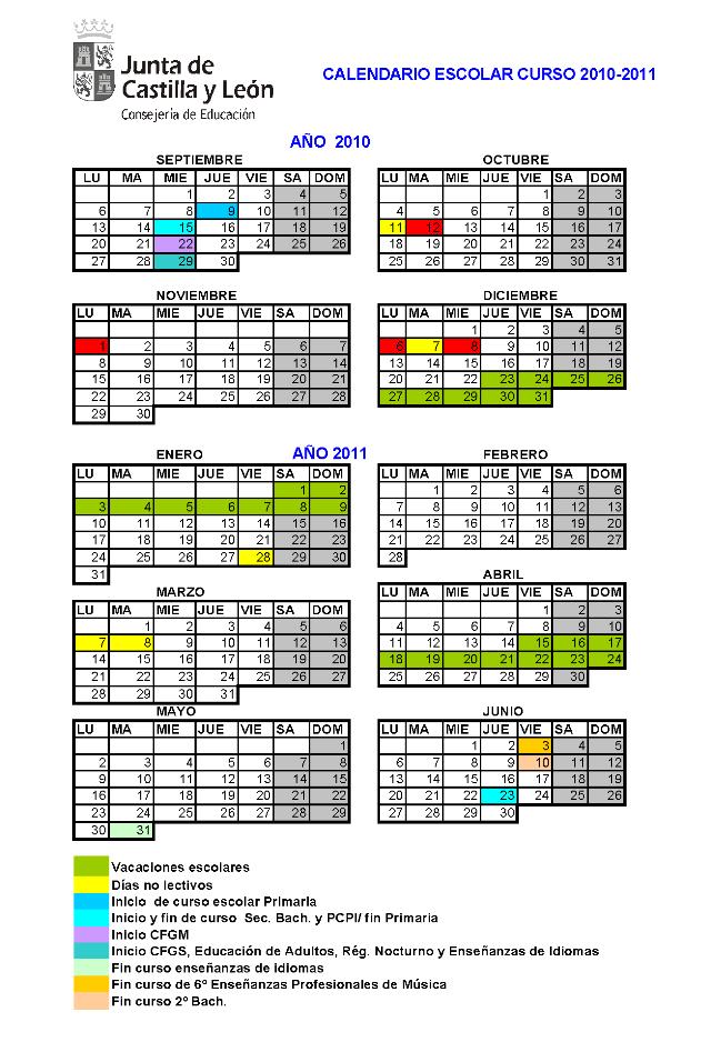 Calendario Educacyl.C E I P Antonio Machado
